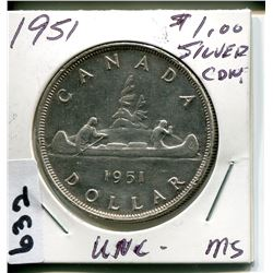 1951 CNDN SILVER DOLLAR