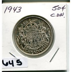 1953 CNDN SILVER 50 CENT PC