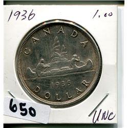 1936 CNDN SILVER DOLLAR