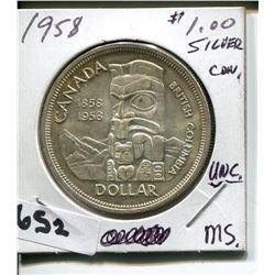 1958 CNDN SILVER DOLLAR