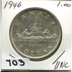 1946 CNDN SILVR DOLLAR