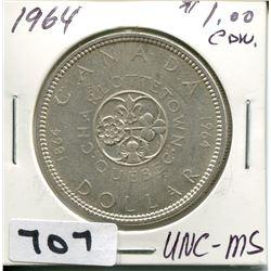 1964 CNDN SILVER DOLLAR