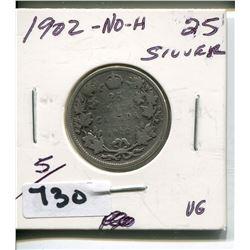 1920 NO H CNDN SILVER QUARTER