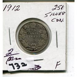 1912 CNDN SILVER QUARTER