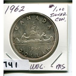 1962 CNDN SILVER 50 CENT PC