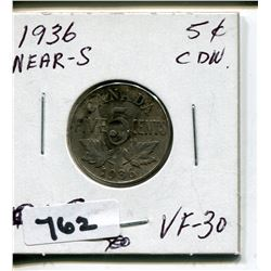 1936 NEAR S CNDN NICKEL