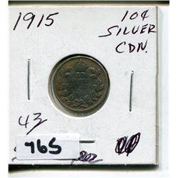 1915 CNDN SMALL SILVER DIME