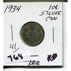 1934 CNDN SMALL SILVER DIME