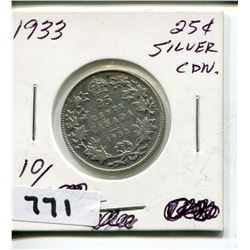 1933 CNDN SILVER QUARTER