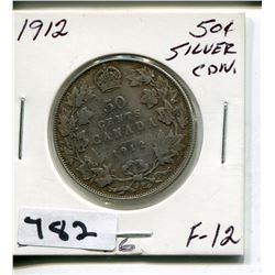 1912 CNDN SILVER 50 CENT PC