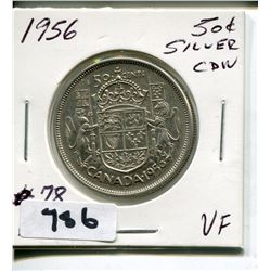 1956 CNDN SILVER 50 CENT PC