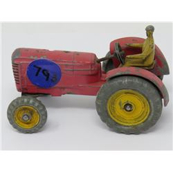 DINKY TOY TRACTOR MH NARROW FRONT TIRES W/DRIVER