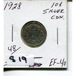 1928 CNDN SILVER DIME