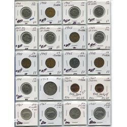 PAGE OF CNDN COINS LARG PENNIES TO HALF DOLLAR 1941 - 1967