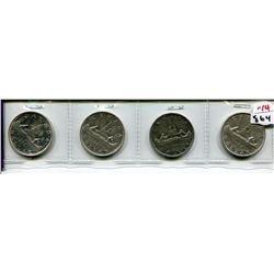 4 CNDN SILVER DOLLARS 1960, 61, 62, 66