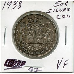 1938 CNDN SILVER 50 CENT PC
