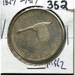 CANADA SILVER DOLLAR 1817-1917