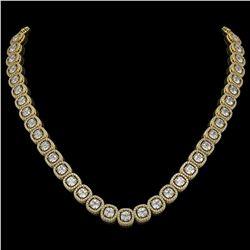 32.64 CTW Cushion Diamond Designer Necklace 18K Yellow Gold - REF-5967A6X - 42625