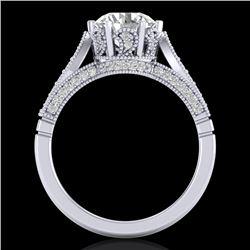 2.2 CTW VS/SI Diamond Art Deco Ring 18K White Gold - REF-725N5Y - 37238