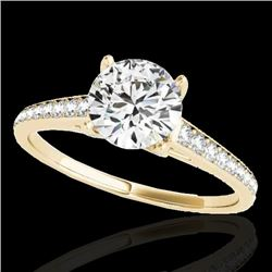 1.5 CTW H-SI/I Certified Diamond Solitaire Ring 10K Yellow Gold - REF-214Y2K - 34846