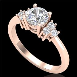 1 CTW VS/SI Diamond Ring Size 7 18K Rose Gold - REF-227N3Y - 36936