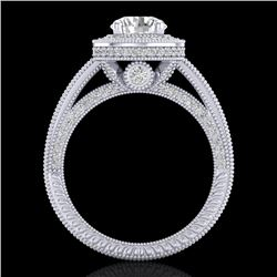 2.8 CTW VS/SI Diamond Solitaire Art Deco Ring 18K White Gold - REF-527F3N - 37136