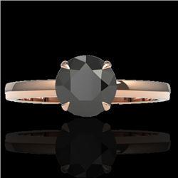 2 CTW Black VS/SI Diamond Designer Inspired Engagement Ring 14K Rose Gold - REF-59F3N - 22214