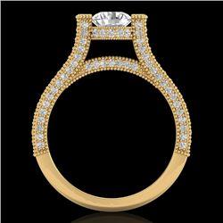 2 CTW VS/SI Diamond Micro Pave Ring 18K Yellow Gold - REF-290K9W - 36949