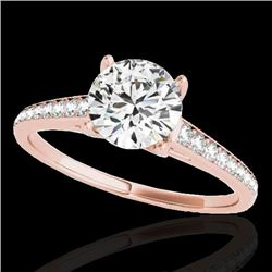 2 CTW H-SI/I Certified Diamond Solitaire Ring 10K Rose Gold - REF-356H2A - 34854
