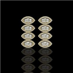 5.33 CTW Marquise Diamond Designer Earrings 18K Yellow Gold - REF-986Y2K - 42784