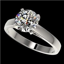 2 CTW Certified H-SI/I Quality Diamond Solitaire Engagement Ring 10K White Gold - REF-466F3N - 33029