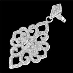 2.50 CTW Micro Pave VS/SI Diamond Designer Earrings 14K White Gold - REF-236H4A - 22549