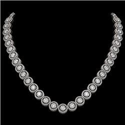 30.78 CTW Diamond Designer Necklace 18K White Gold - REF-4766T9M - 42578