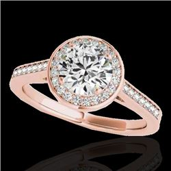 1.93 CTW H-SI/I Certified Diamond Solitaire Halo Ring 10K Rose Gold - REF-355K3W - 33518