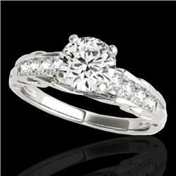 1.2 CTW H-SI/I Certified Diamond Solitaire Ring 10K White Gold - REF-158M2H - 34934