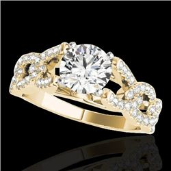1.5 CTW H-SI/I Certified Diamond Solitaire Ring 10K Yellow Gold - REF-218K2W - 35216