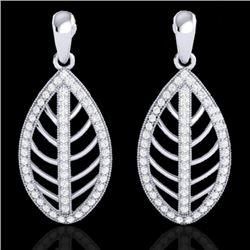 2 CTW Micro Pave VS/SI Diamond Designer Earrings 18K White Gold - REF-170T2M - 21474