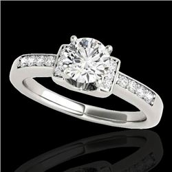 1.11 CTW H-SI/I Certified Diamond Solitaire ring 10K White Gold - REF-200N2Y - 34828