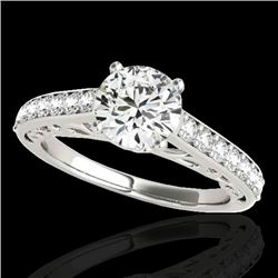 1.4 CTW H-SI/I Certified Diamond Solitaire Ring 10K White Gold - REF-161H8A - 35014