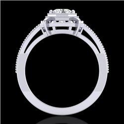 0.53 CTW VS/SI Diamond Art Deco Ring 18K White Gold - REF-136X4T - 36869