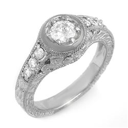 0.75 CTW Certified VS/SI Diamond Ring 14K White Gold - REF-108T8M - 13656