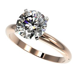 2.50 CTW Certified H-SI/I Quality Diamond Solitaire Engagement Ring 10K Rose Gold - REF-870N2Y - 329