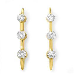 2.0 CTW Certified VS/SI Diamond Earrings 14K Yellow Gold - REF-207X6T - 13156
