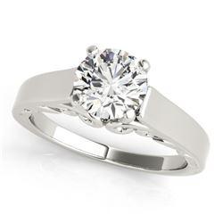 1.25 CTW Certified VS/SI Diamond Solitaire Ring 18K White Gold - REF-488W2F - 27786