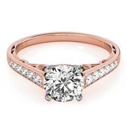 0.85 CTW Certified VS/SI Diamond Solitaire Ring 18K Rose Gold - REF-110K8W - 27511