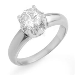 1.0 CTW Certified VS/SI Diamond Solitaire Ring 18K White Gold - REF-301T4M - 11136