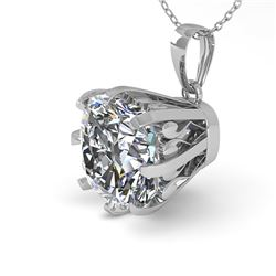 1 CTW VS/SI Cushion Diamond Necklace 18K White Gold - REF-297X2T - 35721