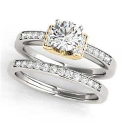 1.01 CTW Certified VS/SI Diamond Solitaire 2Pc Set 14K White & Yellow Gold - REF-199H3A - 31592