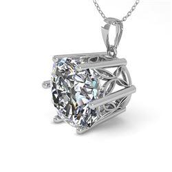 1 CTW VS/SI Cushion Cut Diamond Solitaire Necklace 18K White Gold - REF-285M2H - 35871