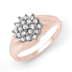 0.25 CTW Certified VS/SI Diamond Ring 18K Rose Gold - REF-43Y3K - 13850